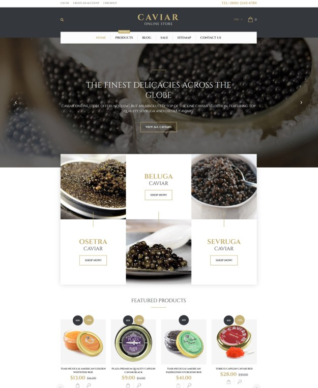 Caviar Shopify Theme