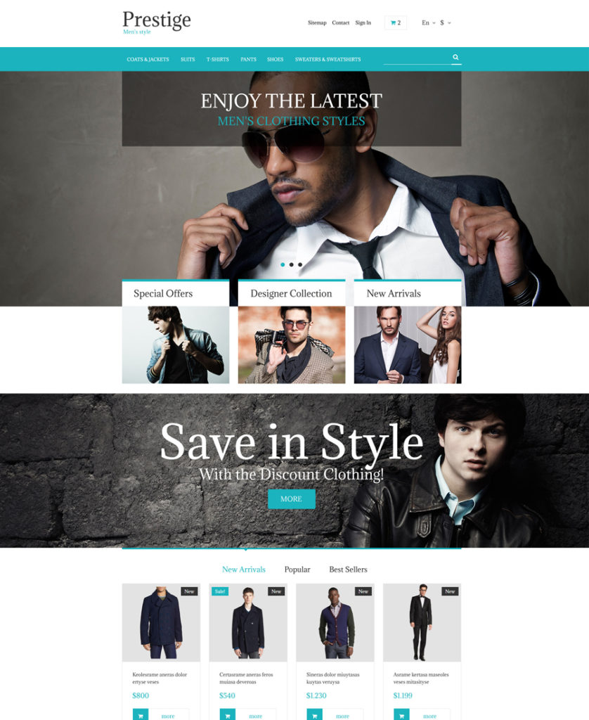 Fashion Store Prestashop Theme (free)