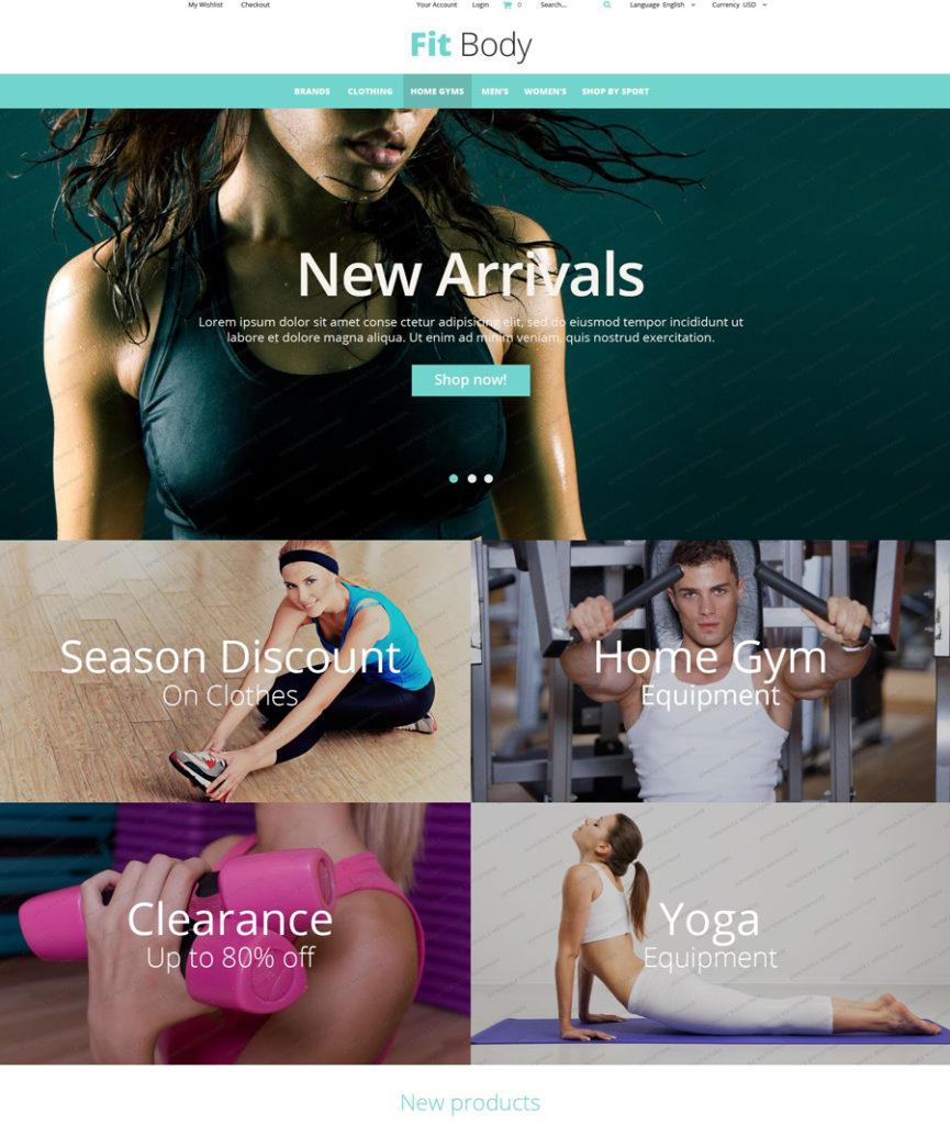 Fitness Magento Theme (free)