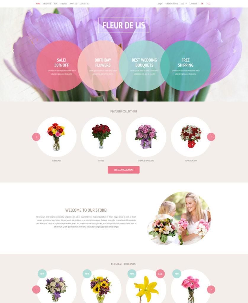 Fleur de lis Shopify Theme (free)