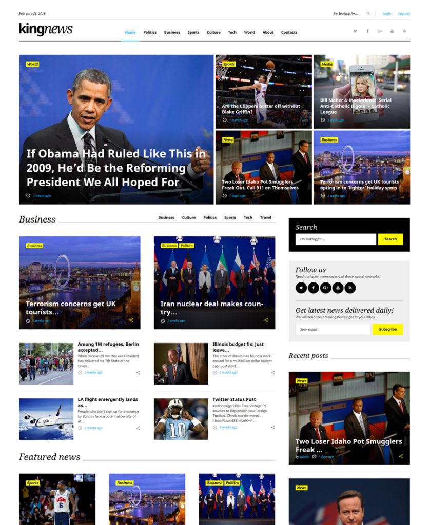KingNews WordPress Theme
