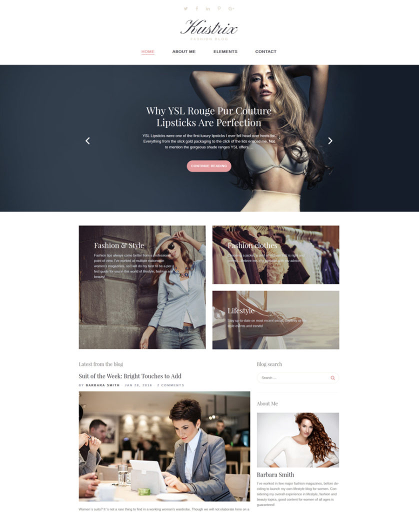 Kustrix WordPress Theme
