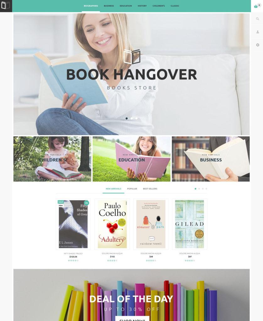 PrestaShop Theme for Book Website (free)