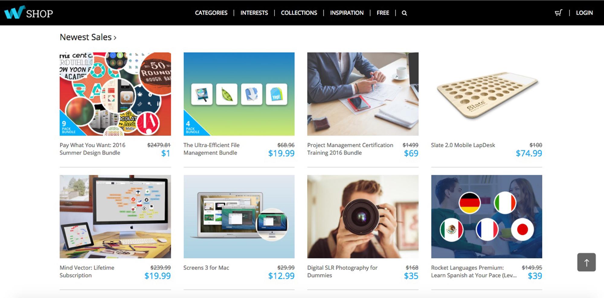 Web Design Ledger shop