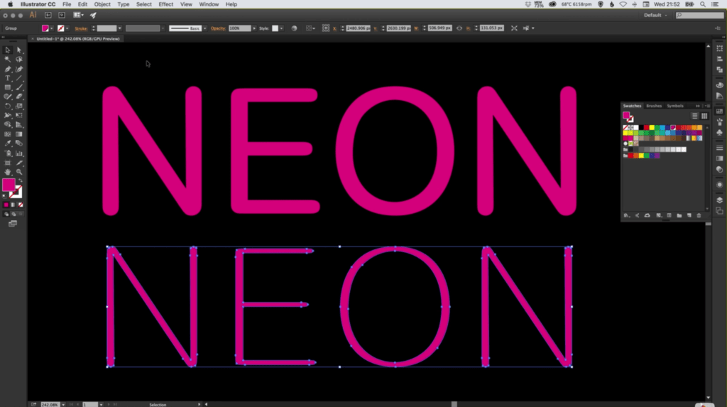 create-neon-text-effect-adobe-illustrator-2