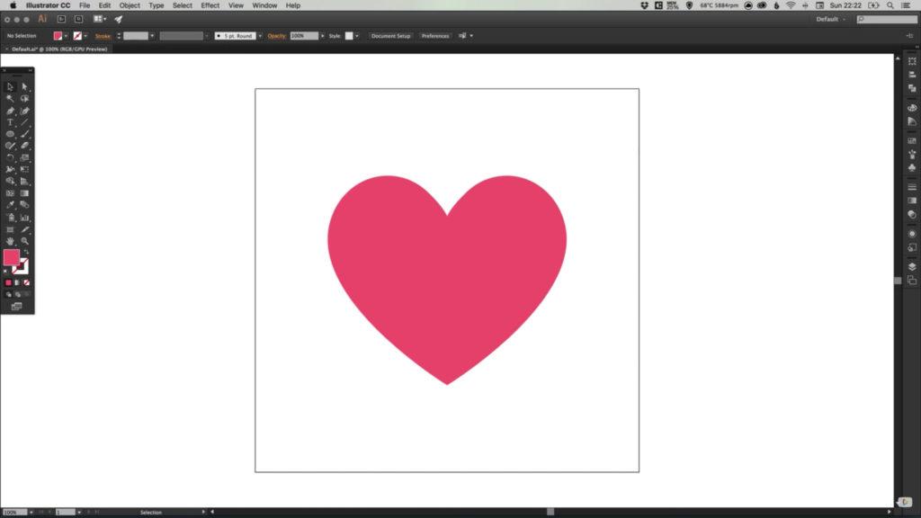 Drawing The Facebook Heart Emoji In Illustrator Aditya Dyals Blog