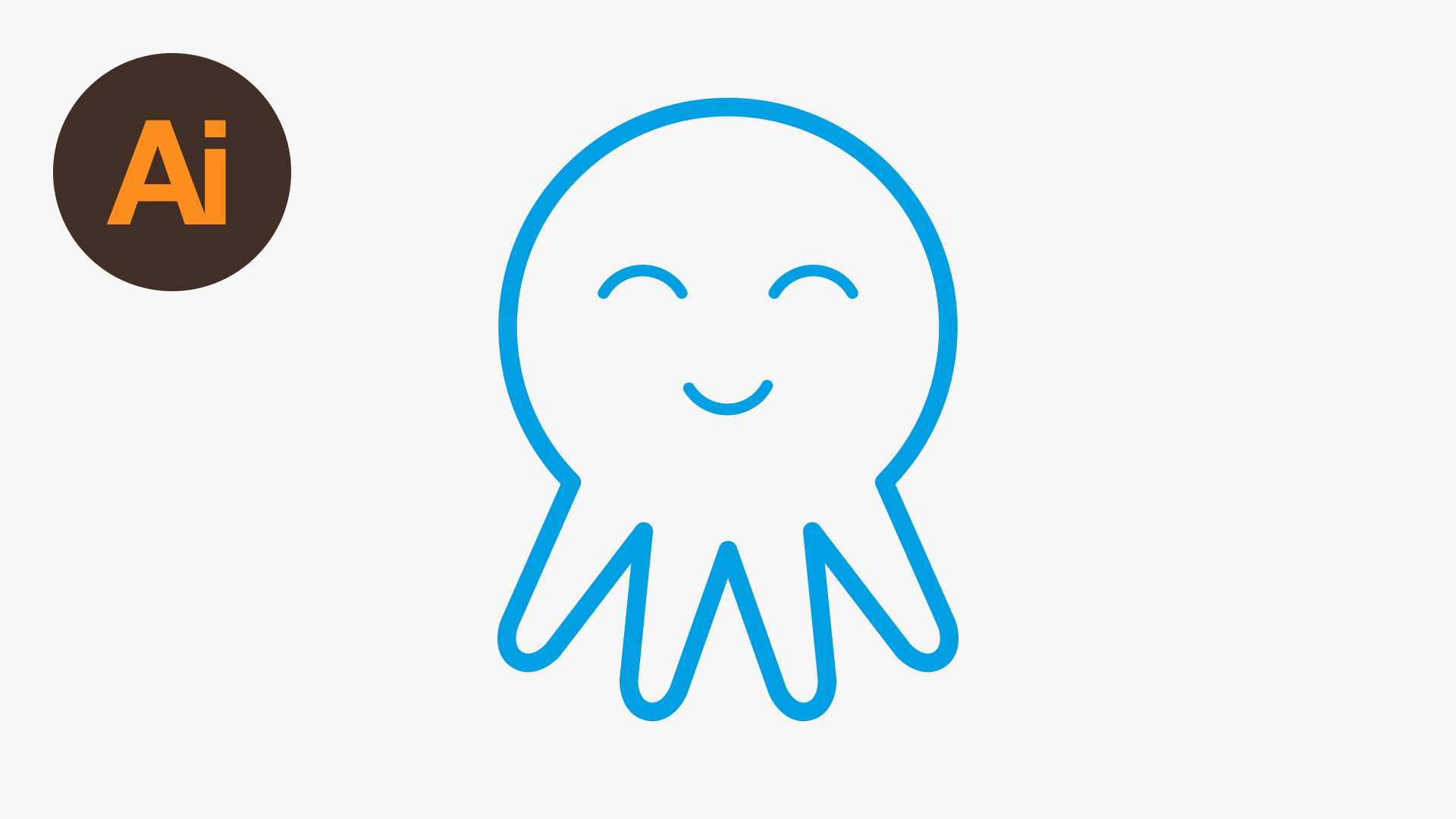 How To Draw A Vector Octopus Icon In Adobe Illustrator How To Draw Eyes On  Adobe