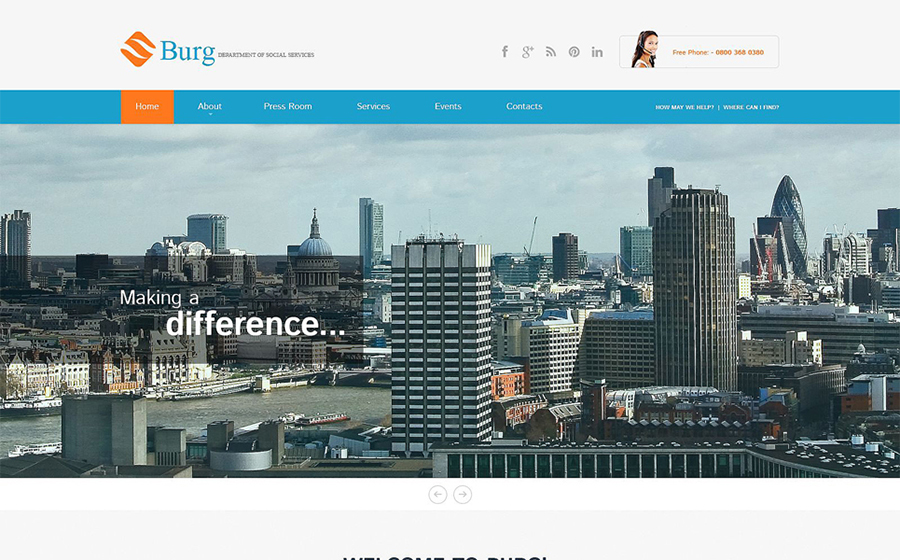 ng Website Responsive WordPress Theme