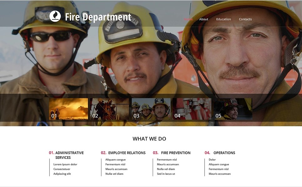 Fire Department Web Template