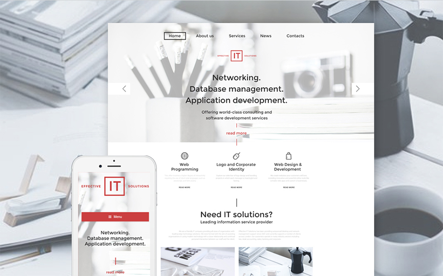 ion Technology WordPress Template