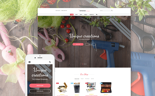 Hobby Supplies Website Template