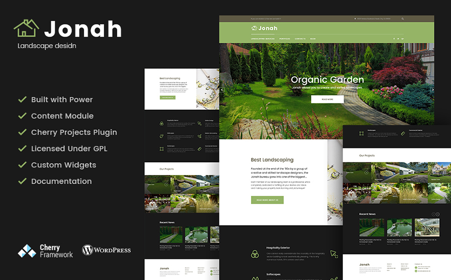 landscape design and lawn mowing WordPress theme
