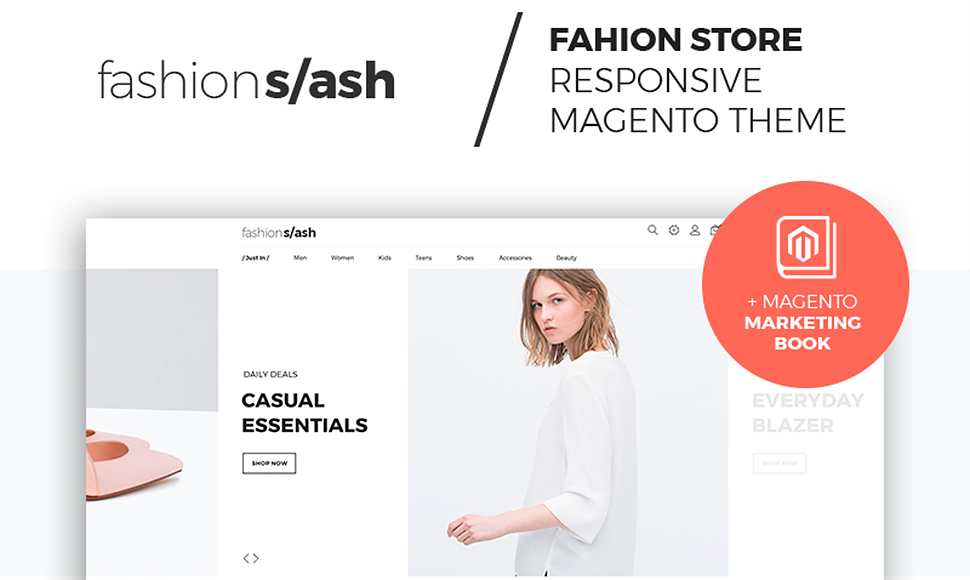 Fashion Slash - AMP Fashion Boutique Magento Theme