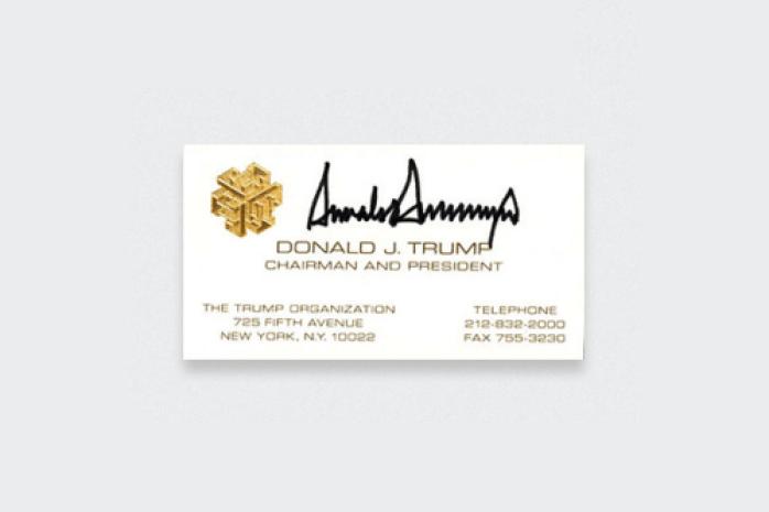Donald Trump's Business Card