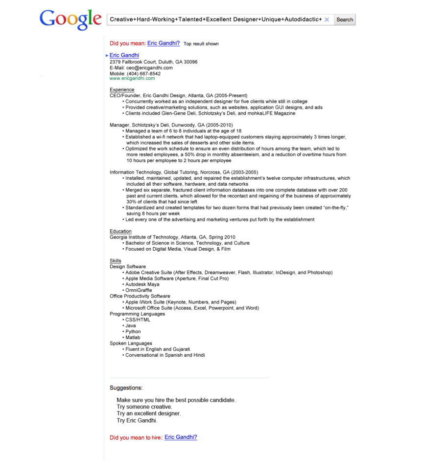 20 Examples Of Creative Graphic Designers Resumes