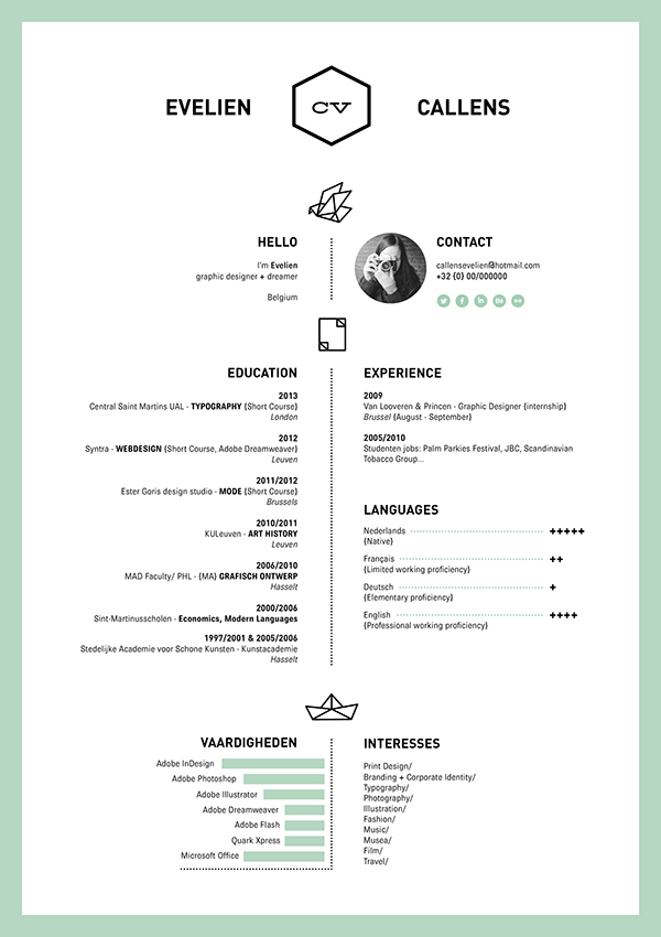 Examples Of Creative Graphic Designers Resumes