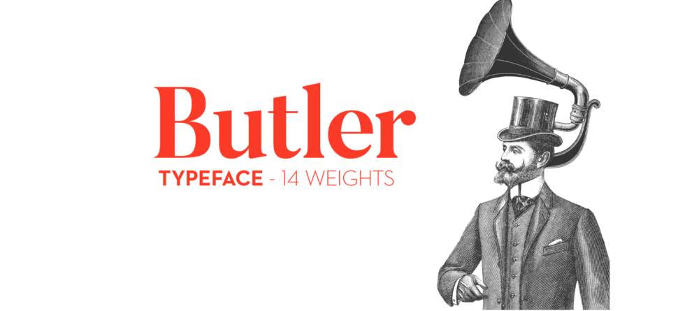 Butler Free font example1