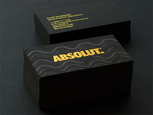 absolut-business-cards-with-letterpress-and-foil-printing