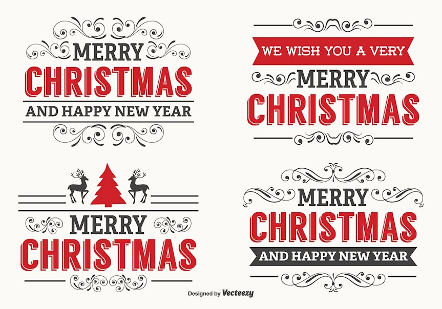 beautiful-christmas-label-set