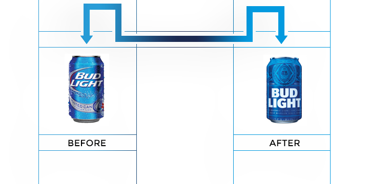 bud light logo redesign