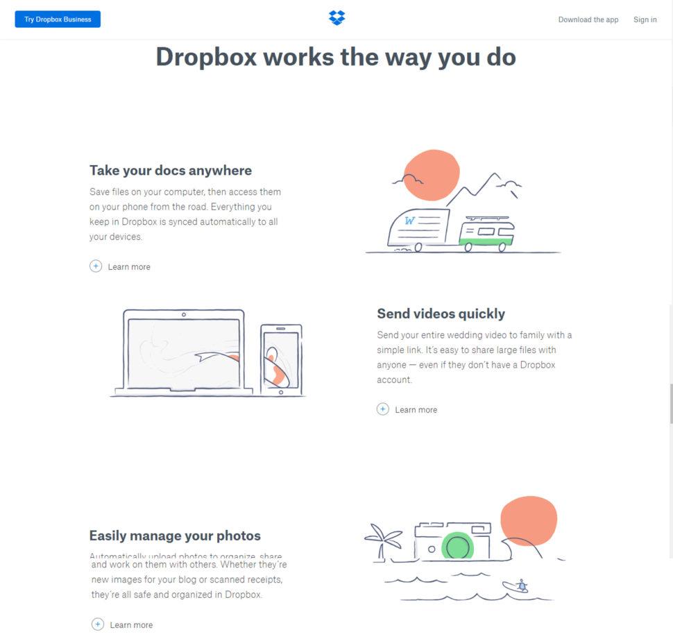 Dropbox Hand Drawn icons