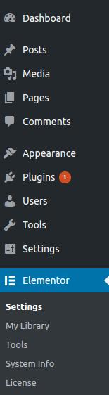 Elementor Menu page Builder WordPress Plugin