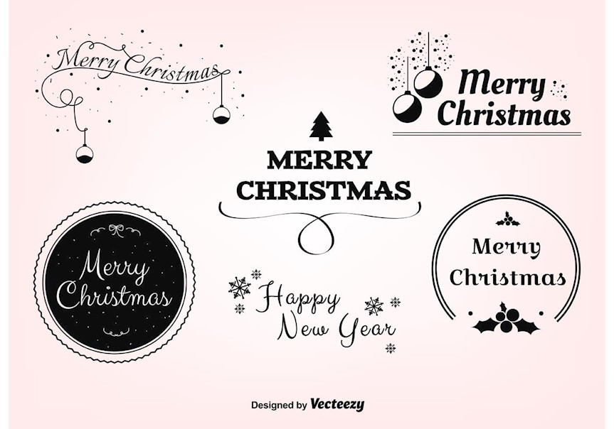 free-christmas-vector-labels