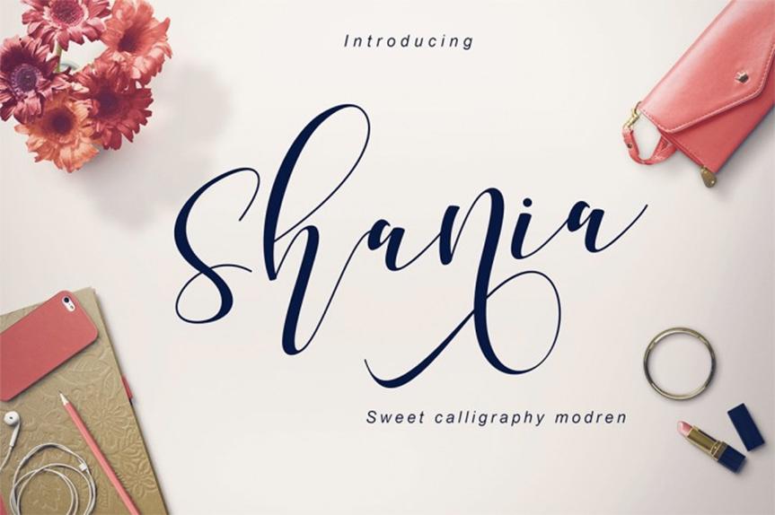 shania-font