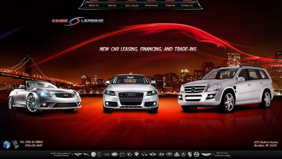 Website for car leasing firm    Kings Leasing    is online   Webdesign m ibg See