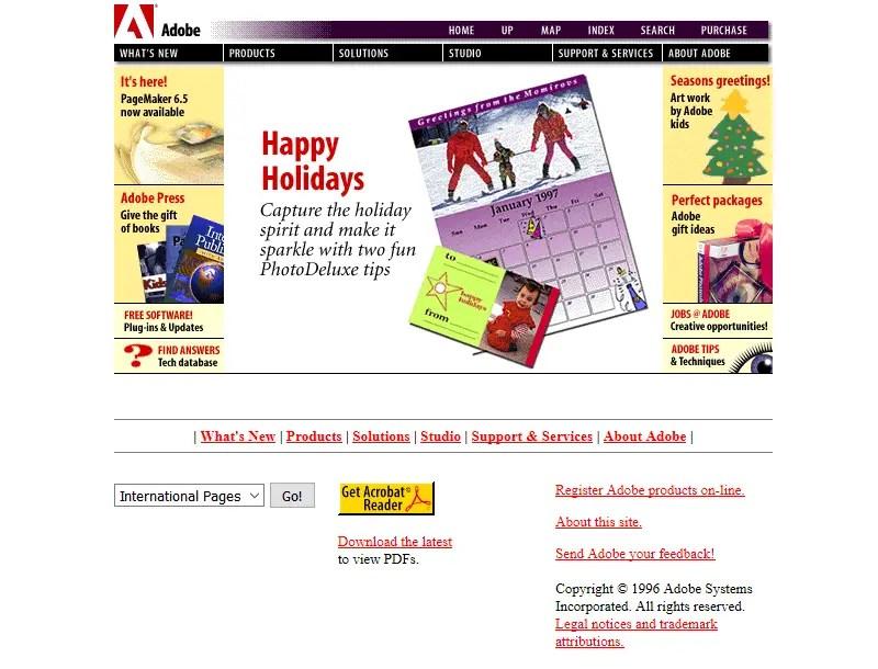 Adobe In 1996 Timeline