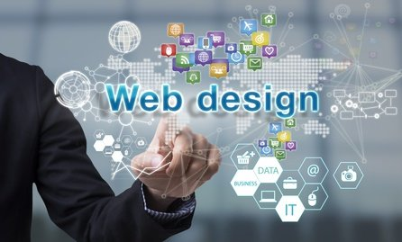 websites for non profits, websites for businesses, screen. internet technology service concept. can used for cover page presentation and web banner.