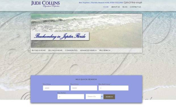 Website Design for Judi Collins Realtor Frenchmans Creek FL