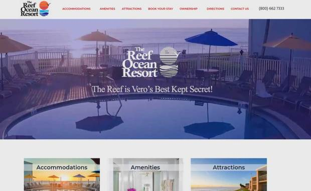 Reef Ocean Resort, Vero Beach, Florida Best Deal on the beach in Vero Beach.