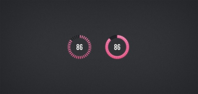 Circular Progress Bars PSD
