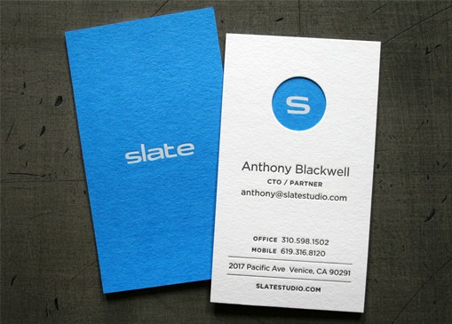 Striking Block Colour Letterpress And Die Cut