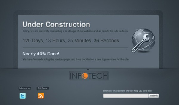 how to make a under construction web page