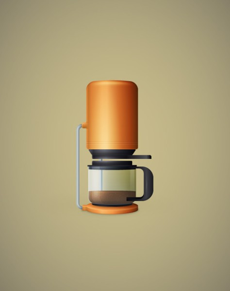 Create a Detailed Coffee Maker Illustration