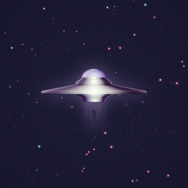 Create a Detailed, UFO Illustration