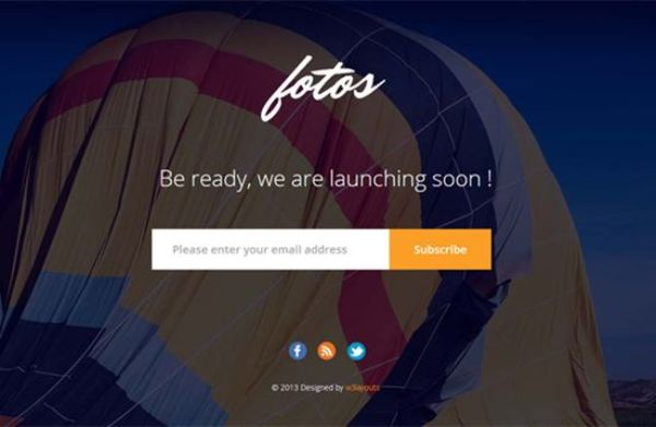 Fotos Website Launching Soon Mobile Website Template