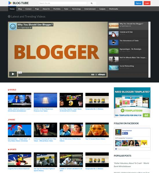BlogTube-Professional-Video-Blogger-Template