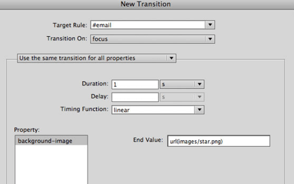 Enhancing HTML pages with CSS transitions