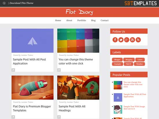 25 best free responsive blogger templates flat diary free premium responsive blogger template maxwellsz