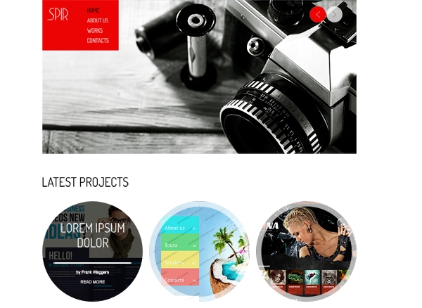 Free HTML5 Photography Template for Portfolio