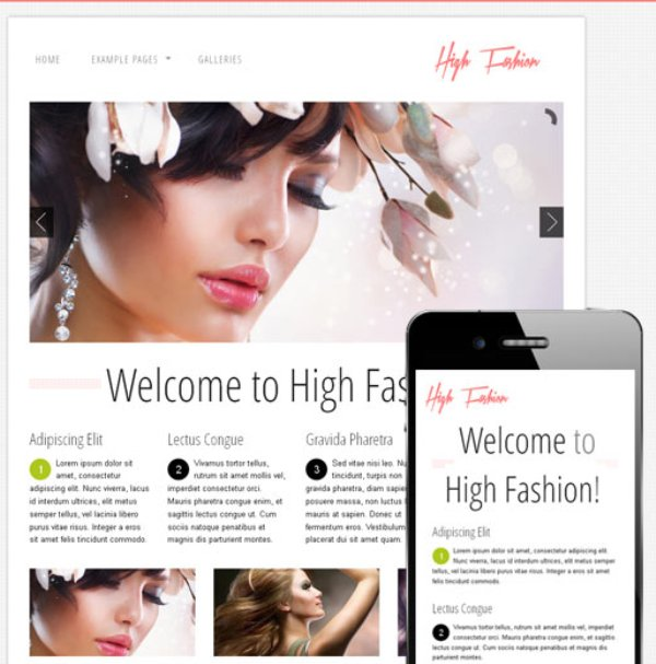 High Fashion – Free Responsive HTML Theme