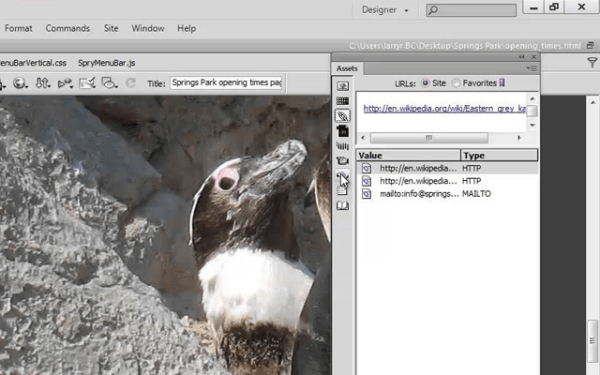 Working with Dreamweaver library items