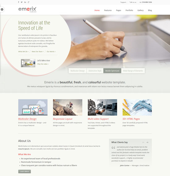 20 free premium business website templates emerix responsive business html5 template friedricerecipe Gallery