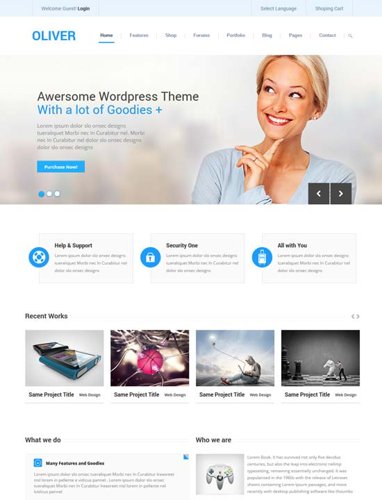 20 free premium business website templates oliver responsive business bootstrap3 html5 template friedricerecipe Gallery
