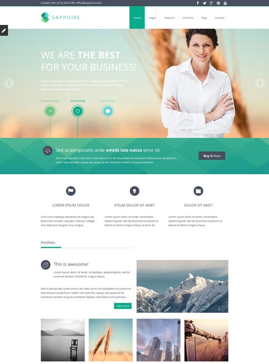 Sapphire-Responsive-Business-website-Template