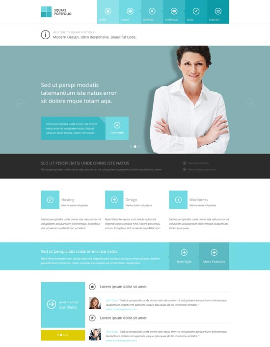 20 free premium business website templates square responsive html business template fbccfo Image collections