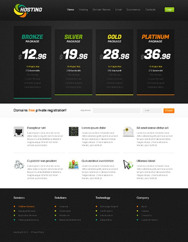 Dynamic Hosting Process Website Template